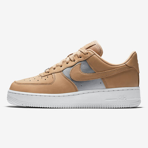 uk availability a0f29 70aa9 Nike Wmns AIR FORCE 1  07 SE PRM BIO BEIGE METALLIC SILVER-WHITE