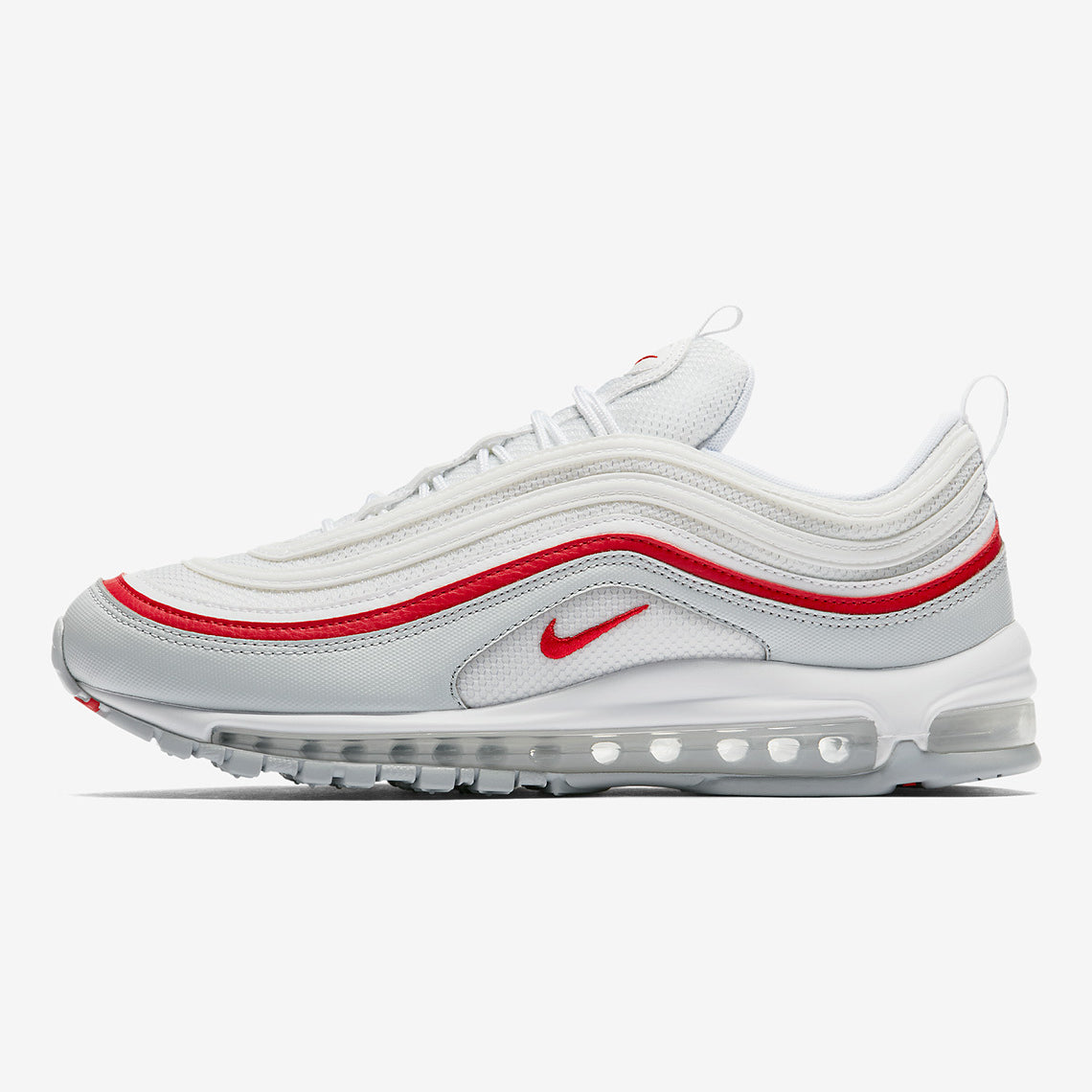 Nike Air Max 97 OG QS PURE PLATINUM WHITE-UNIVERSITY RED (AR5531-002 ... 36e9f9802