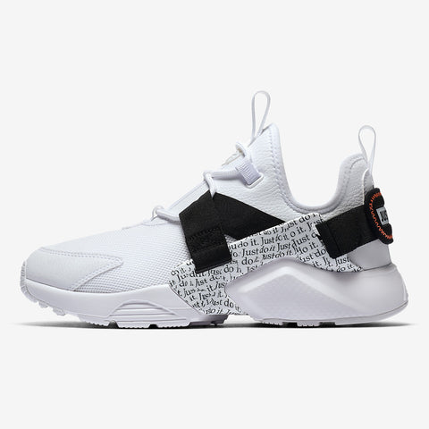 wholesale dealer 222a8 f1b62 Nike Wmns AIR HUARACHE CITY LOW PRM Just Do It Pack WHITE WHITE-BLACK