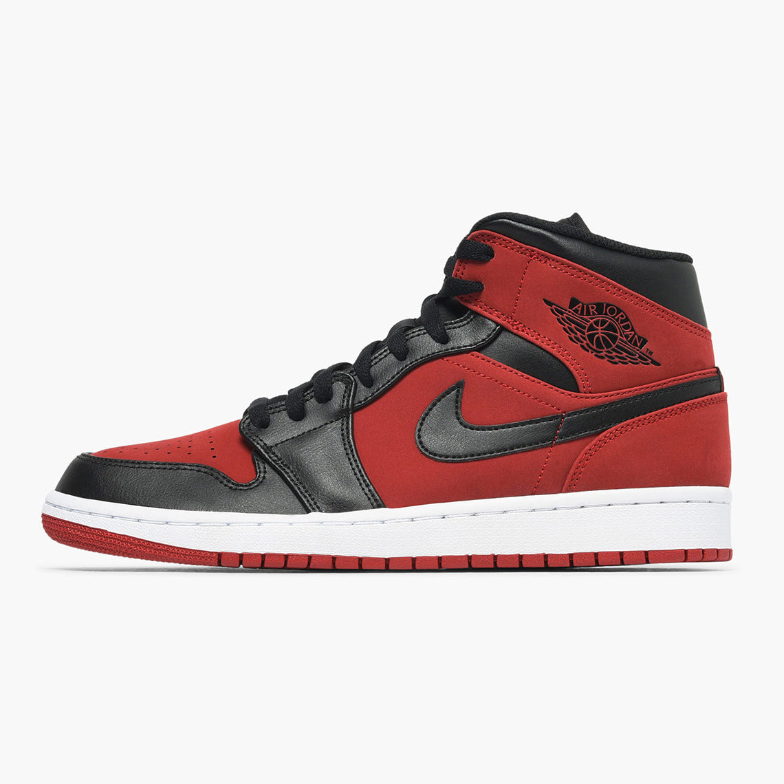 ad2db58e2732 Nike Air Jordan 1 Mid GYM RED BLACK-WHITE (554724-610)
