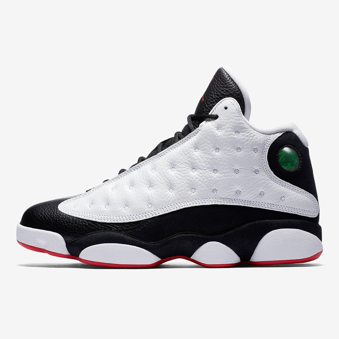 "5cdbad37959 Nike AIR JORDAN 13 RETRO (GS) ""He Got Game"" WHITE/TRUE RED-BLACK (884129-104)  