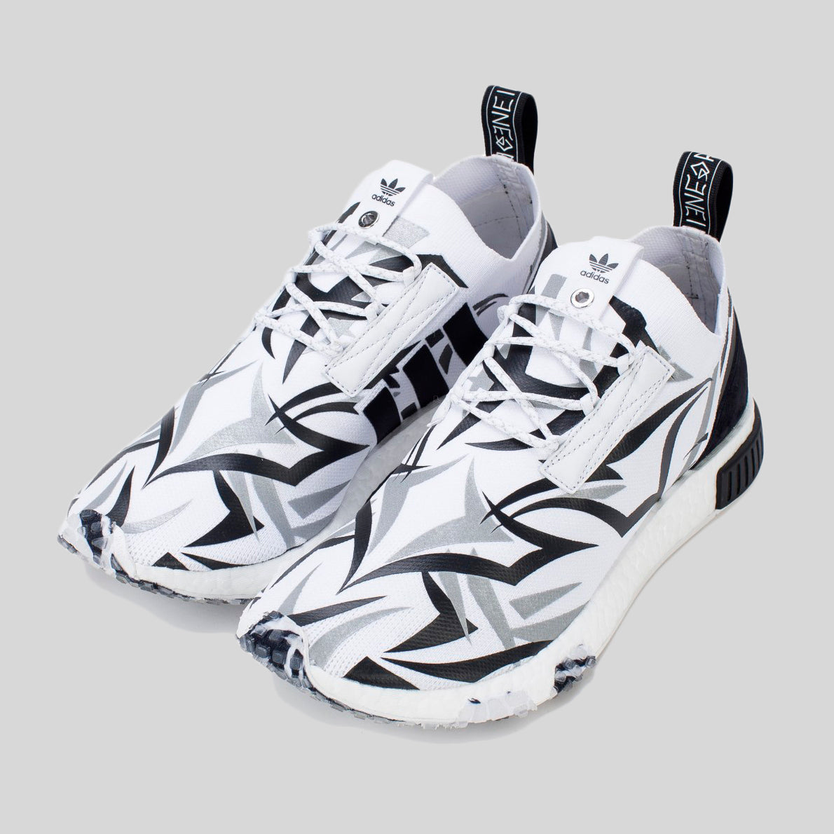 brand new 34a73 df8a1 JUICE X adidas CONSORTIUM NMD RACER WHITE (Friends & Family)