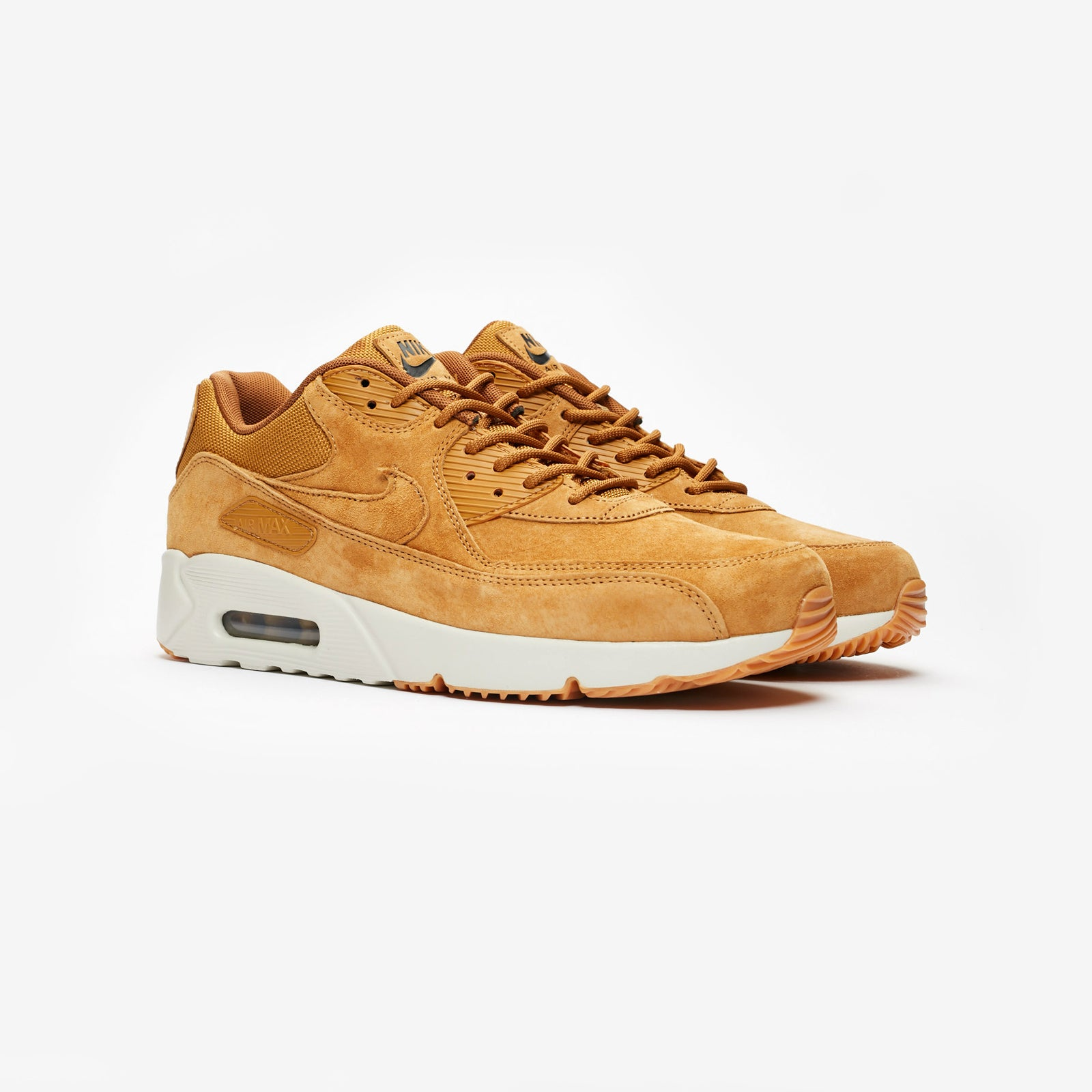new products 41911 dcbc8 Nike Air Max 90 Ultra 2.0 LTR WHEAT WHEAT-LIGHT BONE-GUM MED BROWN (924447- 700)