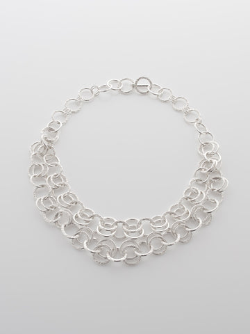Silver Necklace Double