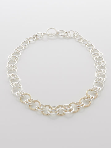 Silver & Gold Necklace Single