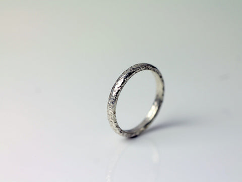 Dune Wedding Ring - 18ct White Gold