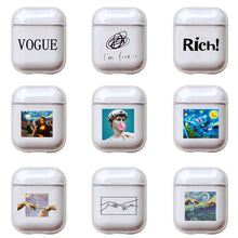 Load image into Gallery viewer, Cartoon Letters Hard Case For Apple Airpods and Airpods Pro