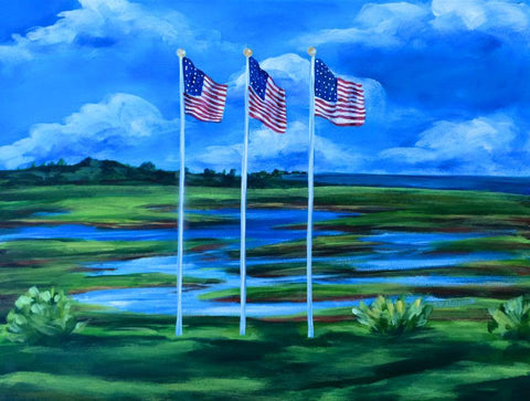 Flags Over the Marsh