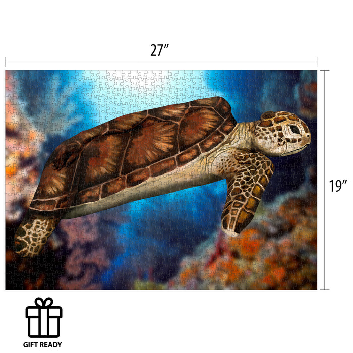 Johannes Stotter Sea Turtle Body Art Puzzle