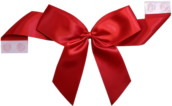 0250 Red Pretie Bow with Glue Dot