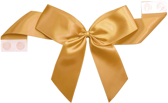 0690 Old Gold Pretie Bow with Glue Dot