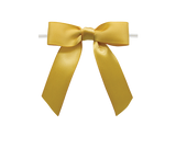 0690 Old Gold Twist Tie Bow