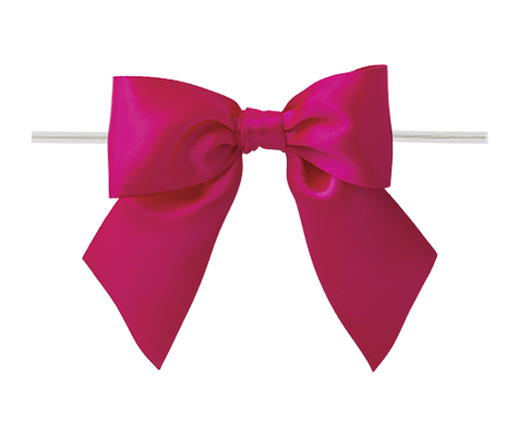 0175 Shocking Pink Twist Tie Bow