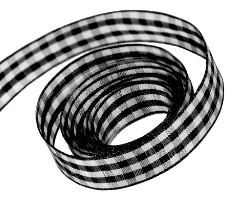 0030 Black Party Plaid Ribbon