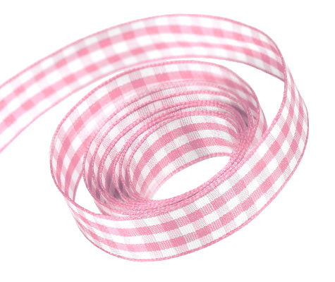 0117 Lt. Pink Party Plaid Ribbon