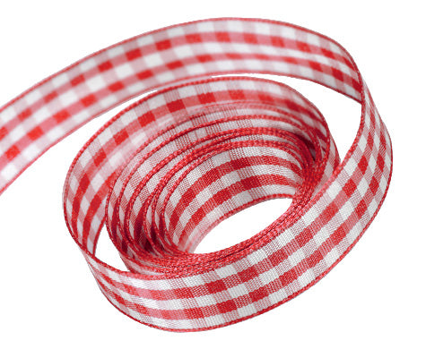 0250 Red Party Plaid Ribbon