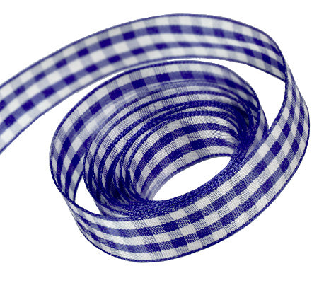 0370 Navy Party Plaid Ribbon
