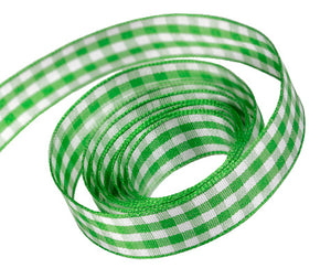 0580 Emerald Party Plaid Ribbon