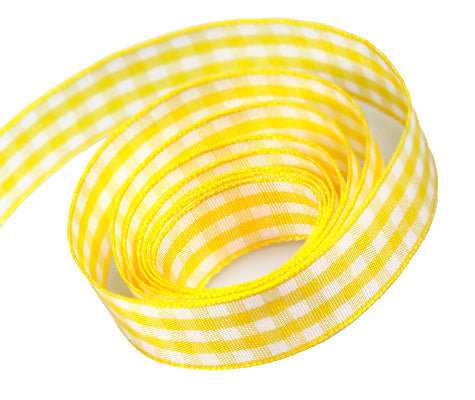 0645 Daffodil Party Plaid Ribbon