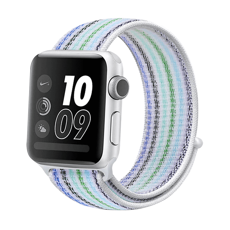 Correa Deportiva Tela Nylon para Apple Watch - Rayas Azul