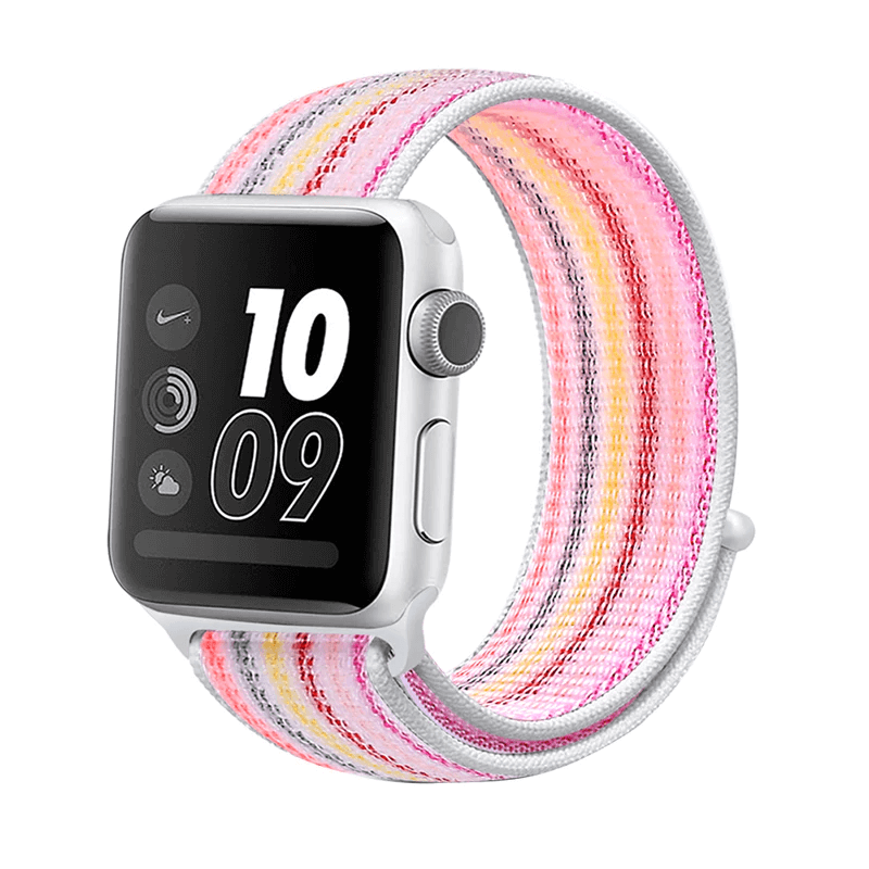Correa Deportiva Tela Nylon para Apple Watch - Rayas Rosa