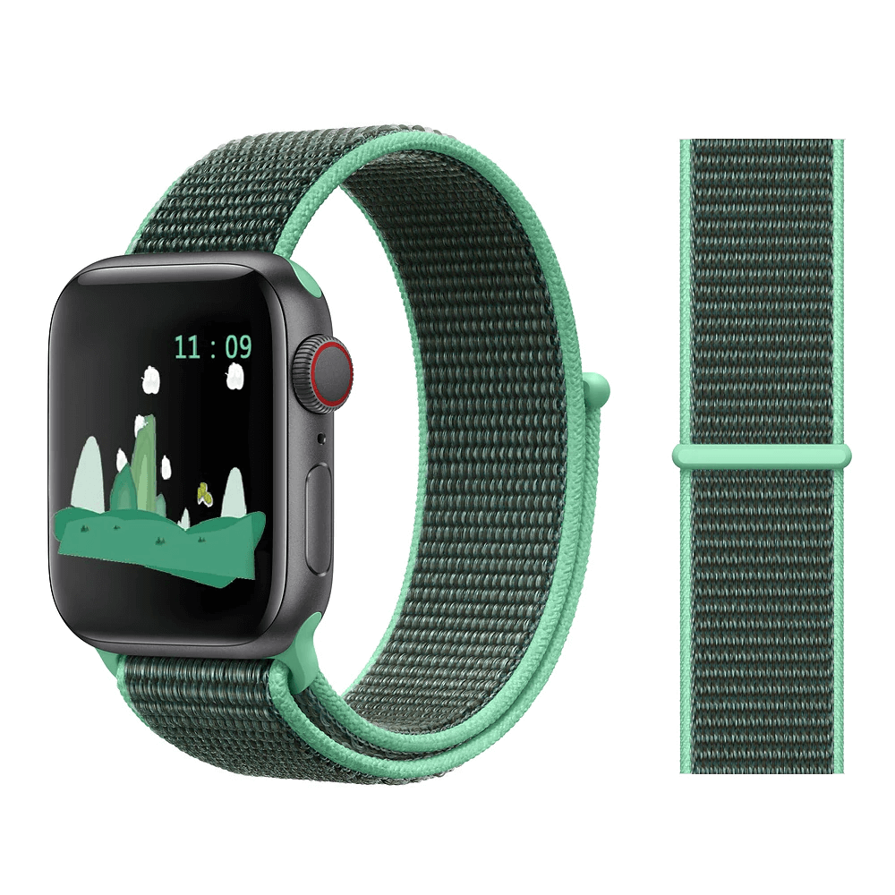 Correa Deportiva Tela Nylon para Apple Watch - Verde Menta