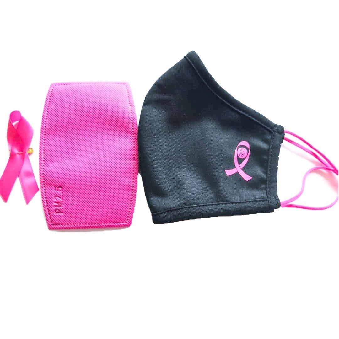Breast cancer pink ribbon Face mask - the Peoples mask canada