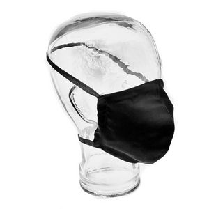 Made in Canada Reusable Fitted Face Mask without earloops - Black - The Peoples Mask