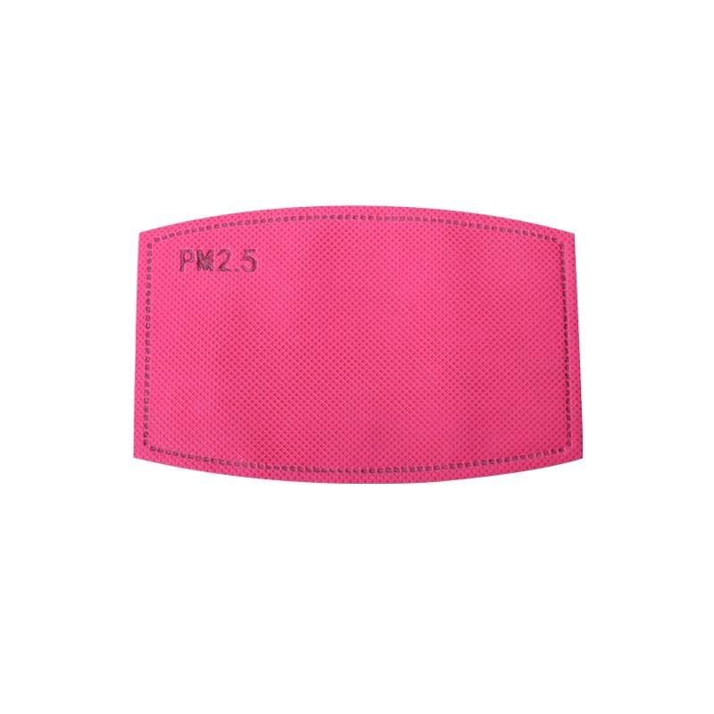Hot Pink Filter for Face Mask pm2.5 carbon