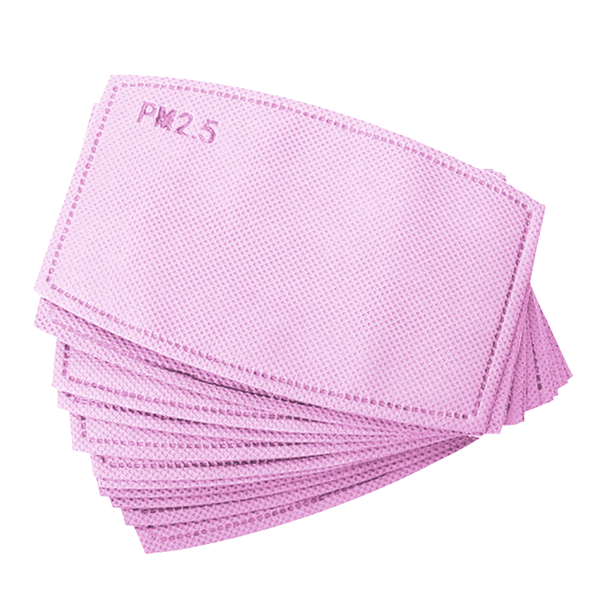 Pink PM2.5 Carbon Kids Face Mask Replacement Filters