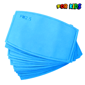 Face Mask Filters polypropylene Blue PM 2.5 Carbon Kids Face Mask Replacement Filters The Peoples Mask