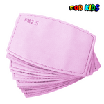 Pink PM2.5 Kids Face Mask Replacement polypropylene Carbon Filters
