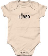 Load image into Gallery viewer, Loved organic baby-grow
