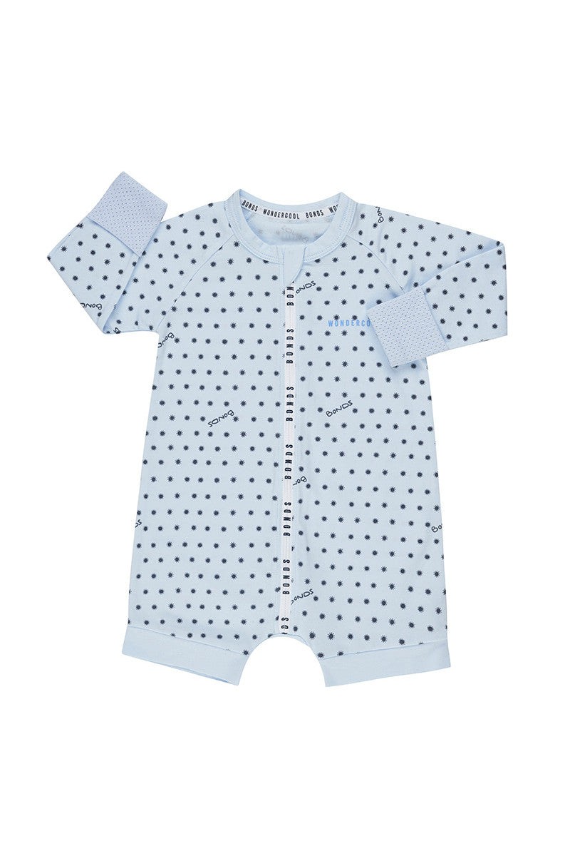 SUNSHINE BABY WONDERCOOL SHORT LEG WONDERSUIT LITTLE BLUE