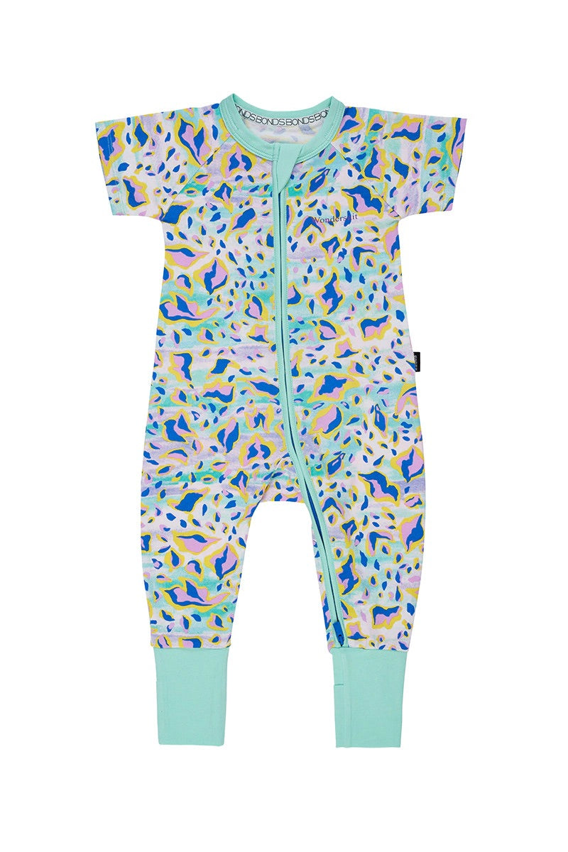 ASTRID ANIMAL MINT SHORT SLEEVE WONDERSUIT