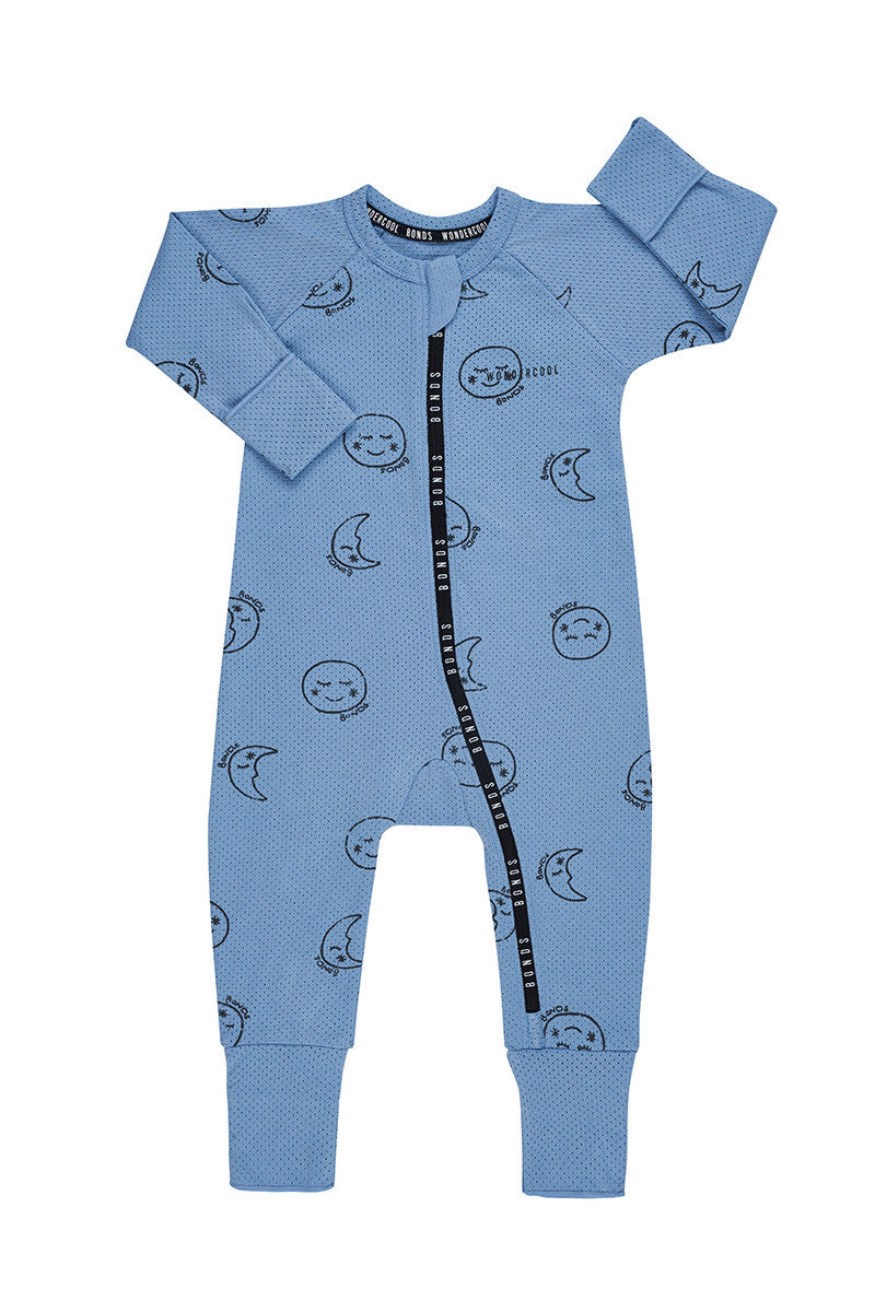 MOON CHILD SAFARI BLUE WONDERCOOL EYELET WONDERSUIT