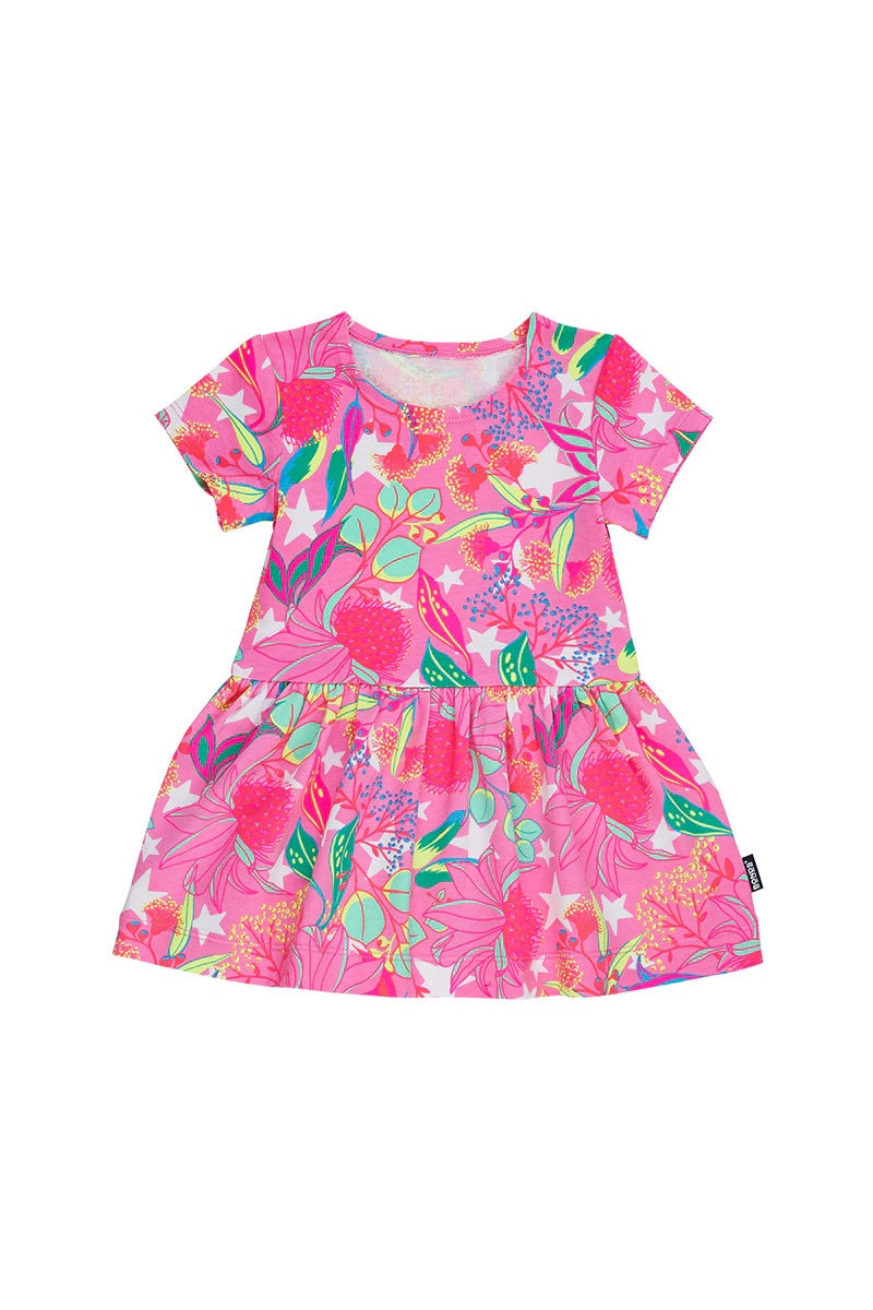 WARATAH WONDER STRETCHIES DRESS