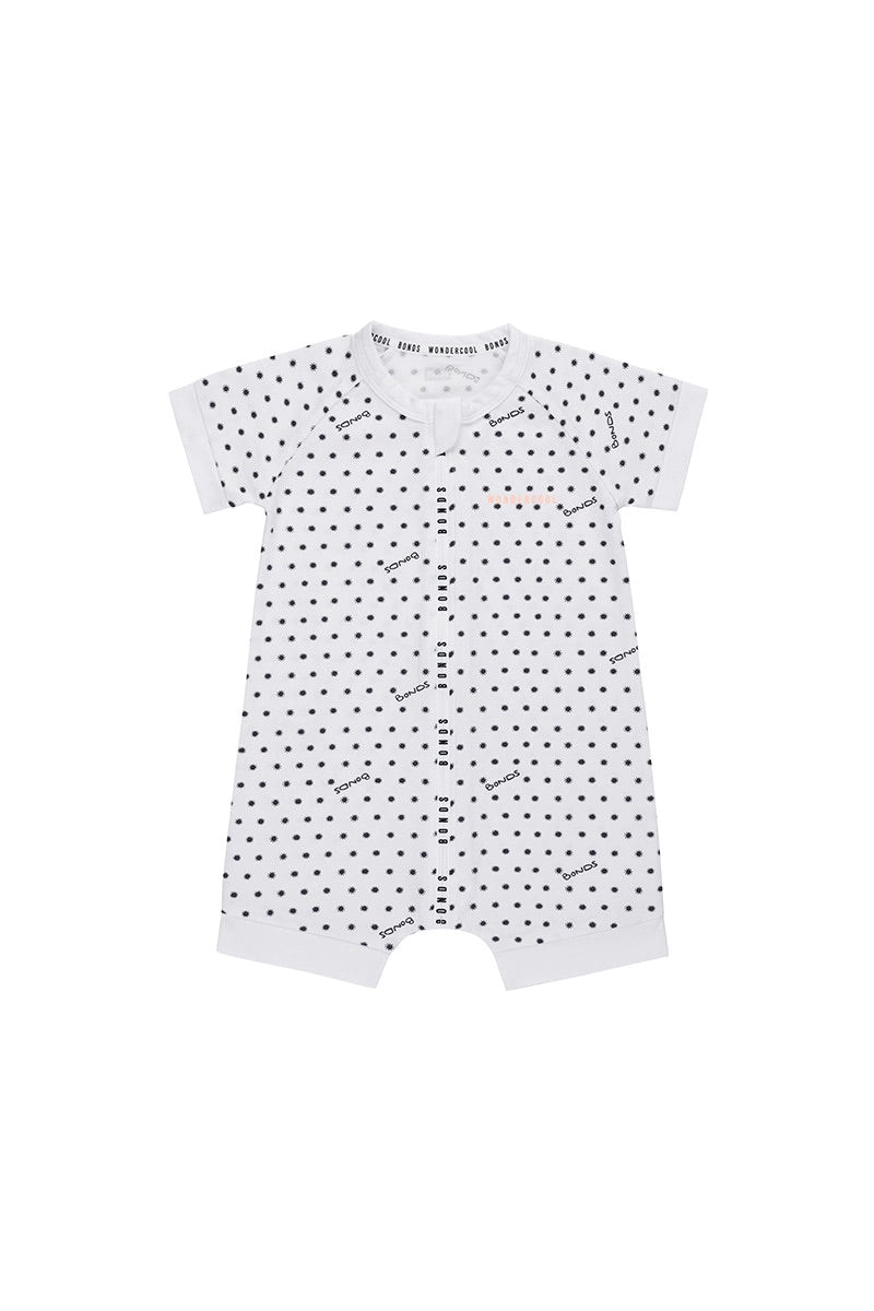 SUNSHINE BABY WONDERCOOL ROMPER WONDERSUIT WHITE