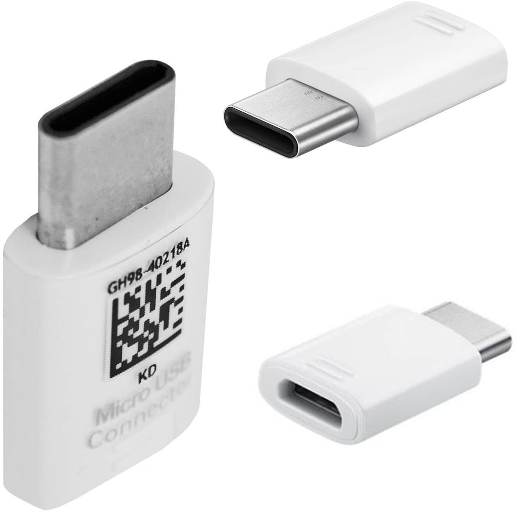 SAMSUNG USB ADAPTER / CONNECTOR, MICRO-USB TO TYPE-C GH98-40218A WHITE