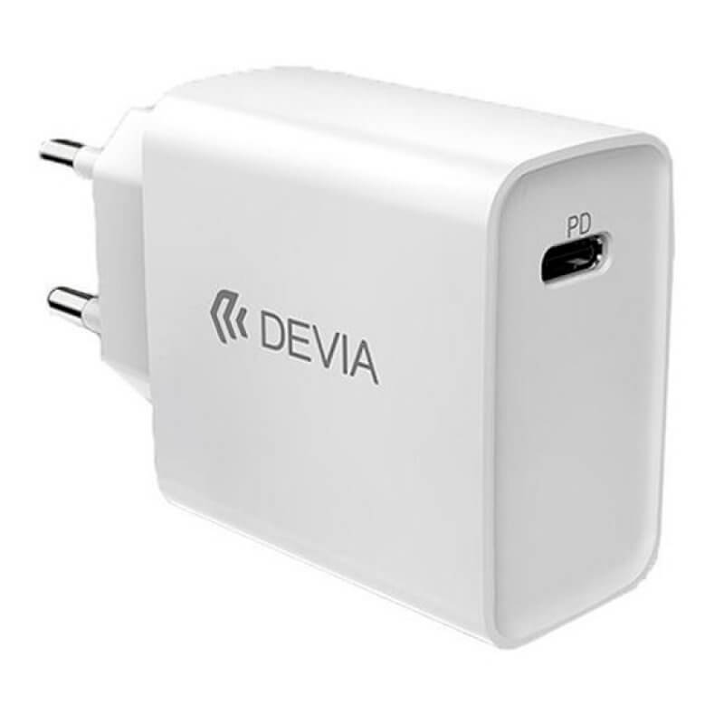 TRANSFORMADOR SMART SERIES DEVIA PD QUICK CHARGER 18W - BRANCO