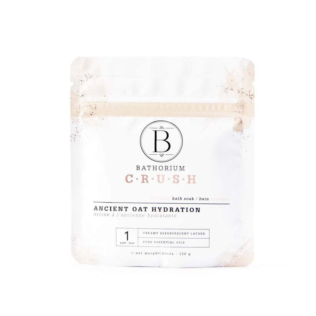 Ancient Oat Hydration Crush COLLOIDAL OATMEAL, WARM VANILLA, SANDALWOOD + LEMONGRASS BATH SOAK