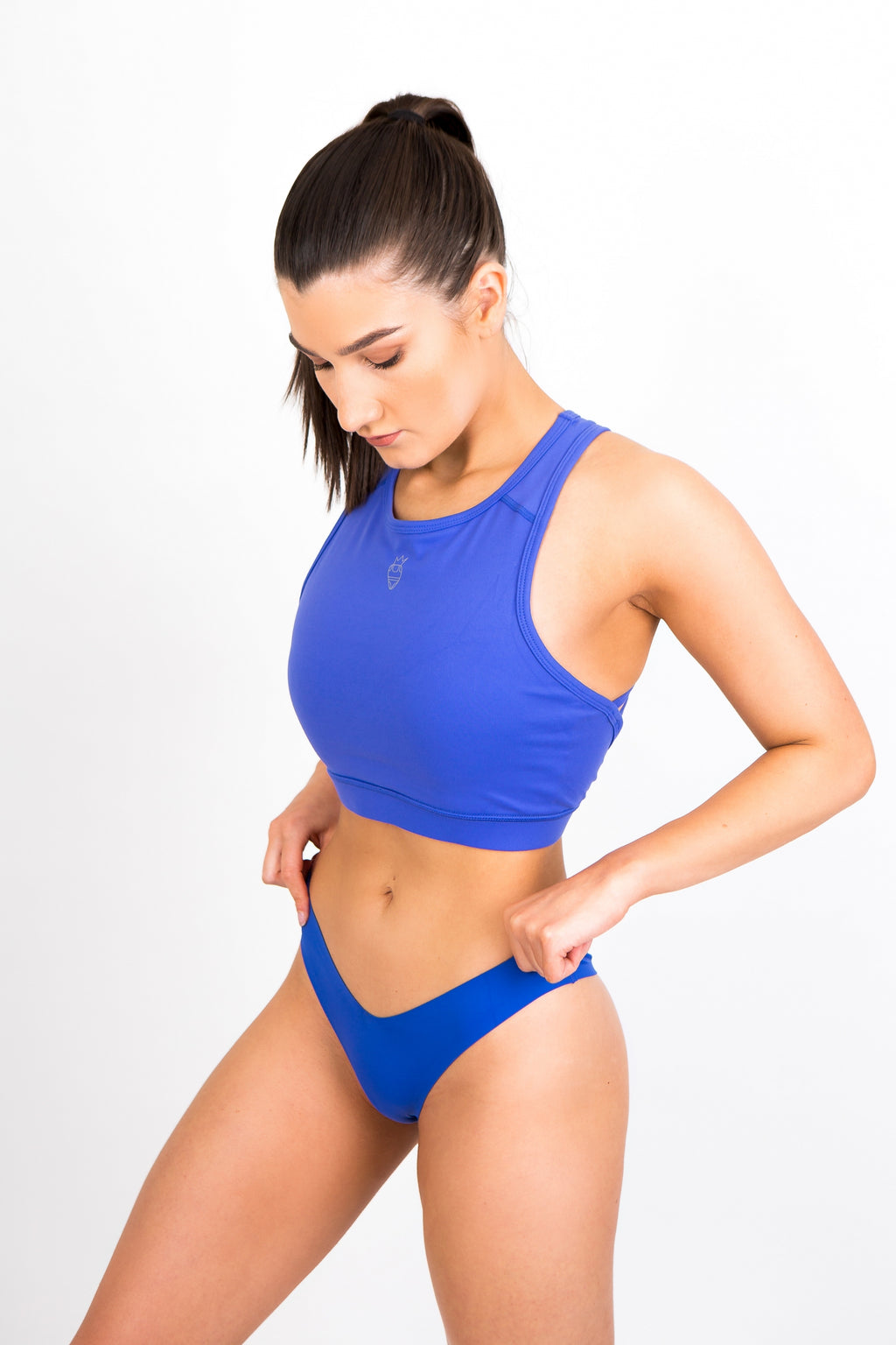 Royal Blue Seamless Thong