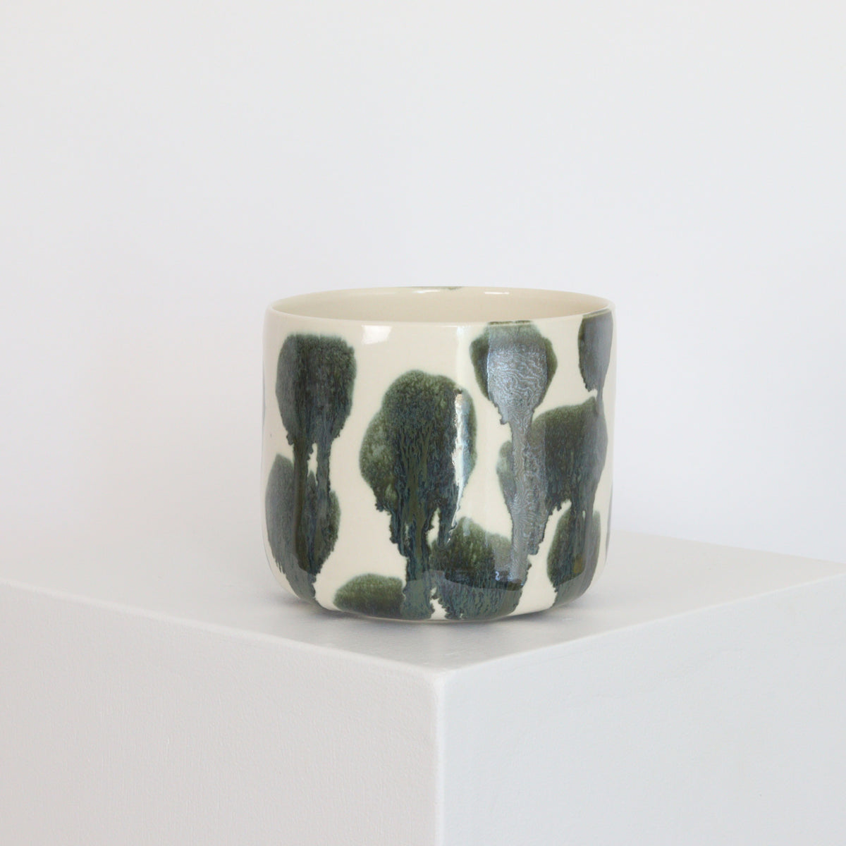 Metallic Drip on White - Planter - 21040
