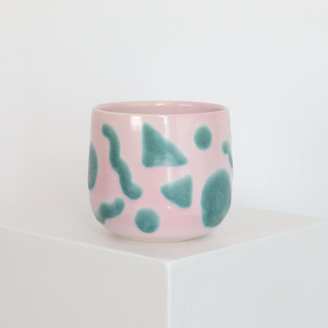 Pink with Green Accents - Planter - 21041