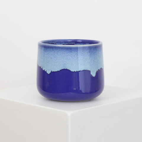 Blue Drip on Cobalt - Planter - 21061
