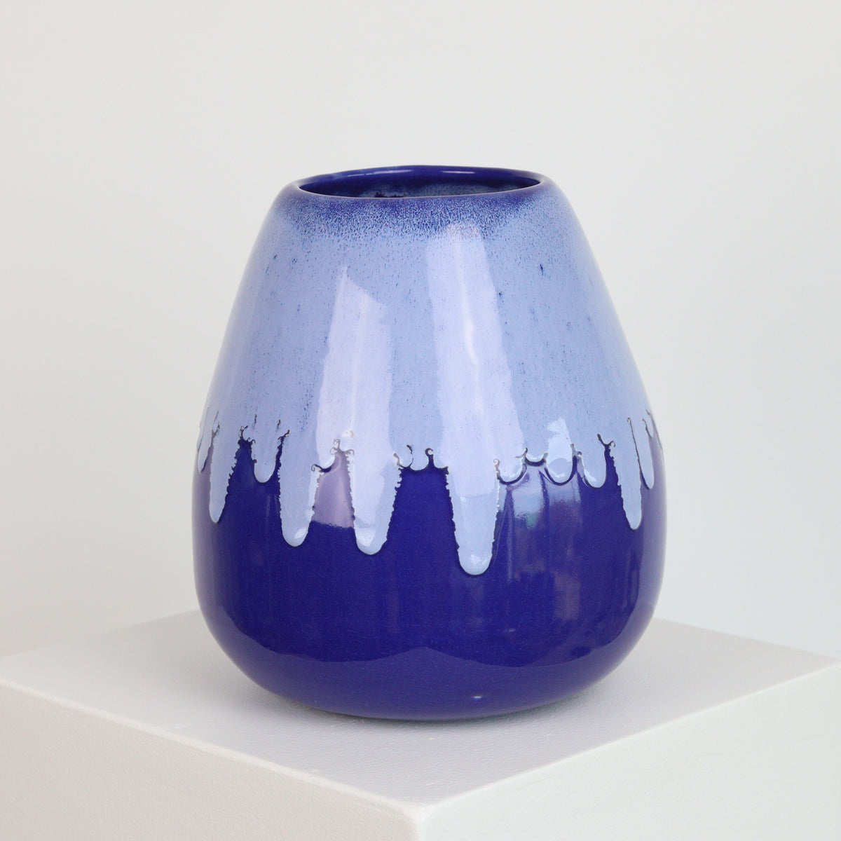Blue Drip on Cobalt - Vase - 21003