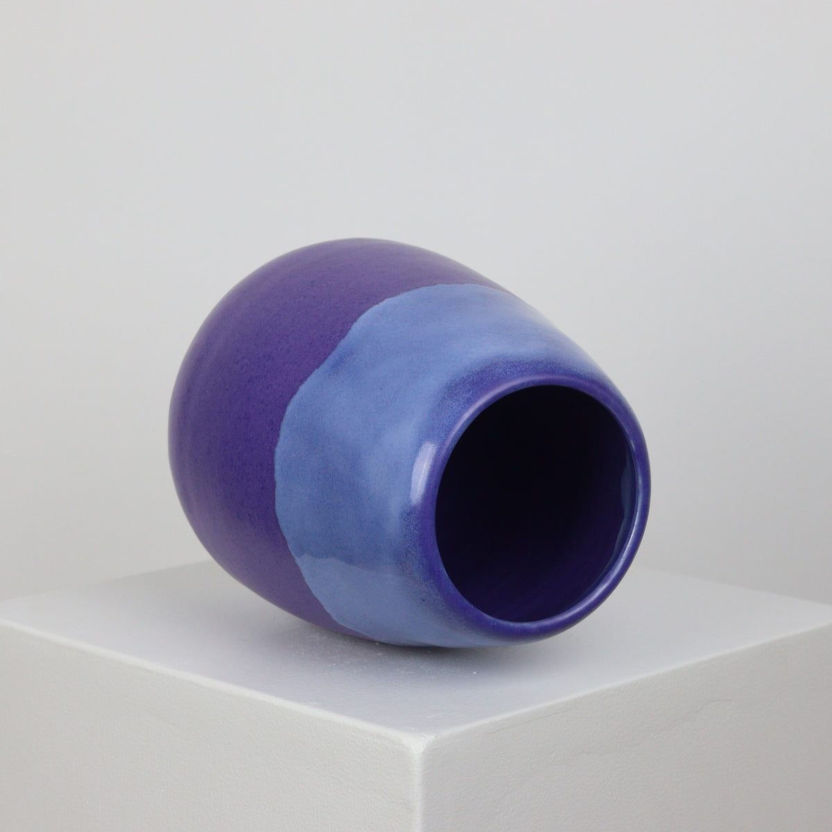 Blue Drip on Satin Lapis - Vase - 21032
