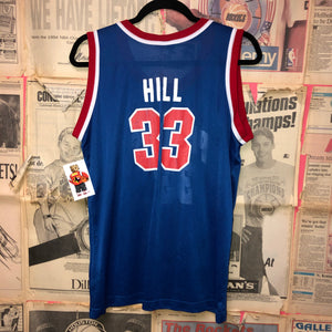 Detroit Pistons Hill Champion Jersey Size Youth Large