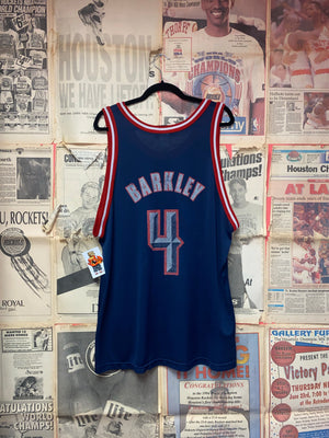 Houston Rockets Charles Barkley Champion Jersey Size 52