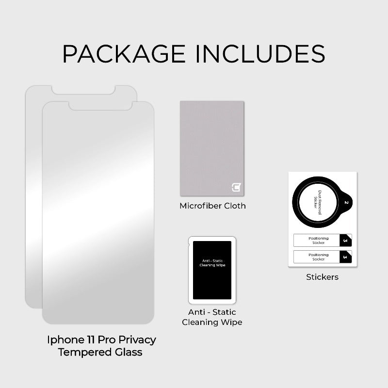 2x Privacy Screen Protector - iPhone 11 Pro